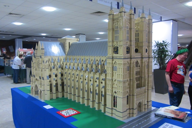 An enormous model of Westminster abby. Made from Lego