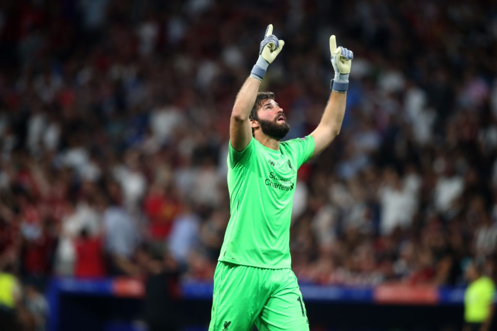 ESP, UEFA CL, Tottenham Hotspur vs FC Liverpool 01.06.2019, Wanda Metropolitano, Madrid, ESP, UEFA CL, Tottenham Hotspur vs FC Liverpool, Finale, im Bild Alisson Becker of Liverpool celebrates // Alisson Becker of Liverpool celebrates during the UEFA Champions League Final Match between Tottenham Hotspur and FC Liverpool at the Wanda Metropolitano in Madrid, Spain on 2019/06/01. EXPA Pictures © 2019, PhotoCredit: EXPA/ Focus Images/ Paul Chesterton  *****ATTENTION - for AUT, GER, FRA, ITA, SUI, POL, CRO, SLO only***** EXPA/ Focus Images/ Paul Chesterton