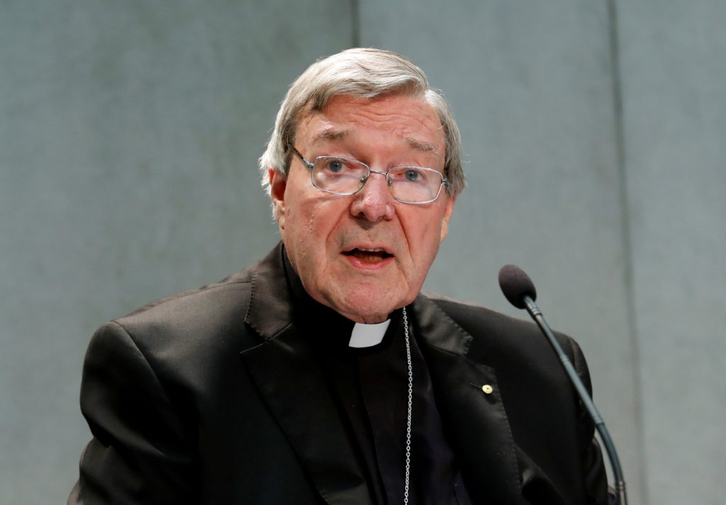 FILE PHOTO: Cardinal George Pell attends news conference at the Vatican FILE PHOTO: Cardinal George Pell attends news conference at the Vatican, June 29, 2017. REUTERS/Remo Casilli/File Photo Remo Casilli