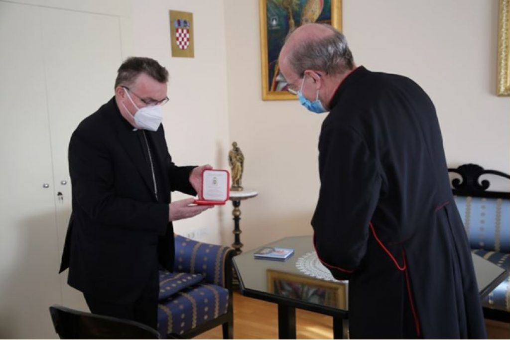 , kardinal Bozanić, mons. Jorge Ramos
